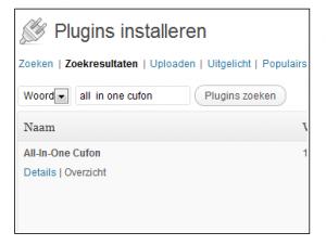 plugin installeren