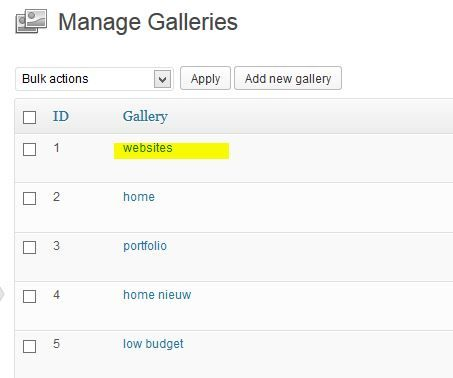 manage galleries