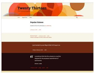 theme twenty-thirteen