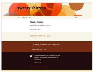 theme twenty-thirteen