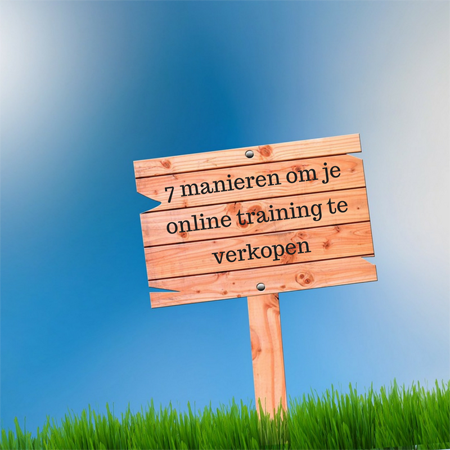 7 manieren om je online training te verkopen